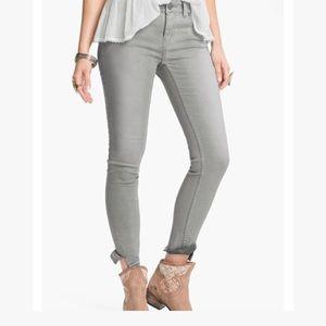 Free People Grey Crop Skinny Jeans